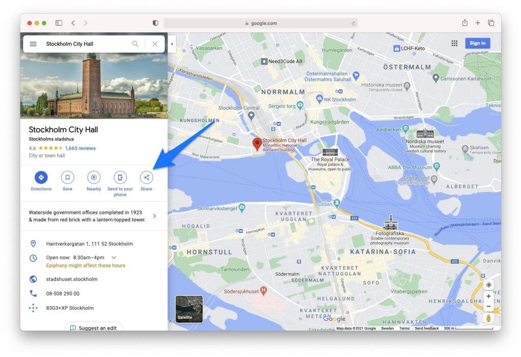 Share on Google Maps